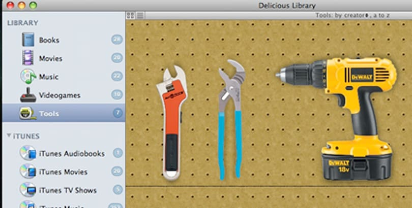 Delicious Library 2 will track your media and your tools