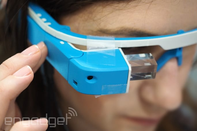 SiME Google Glass knock-off is held together with Scotch Tape