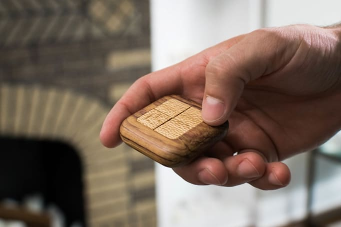 Control your home with a gorgeous wooden remote