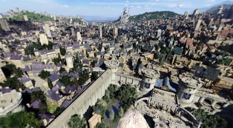 Fly over a giant 'Warcraft' city in a 360-degree video