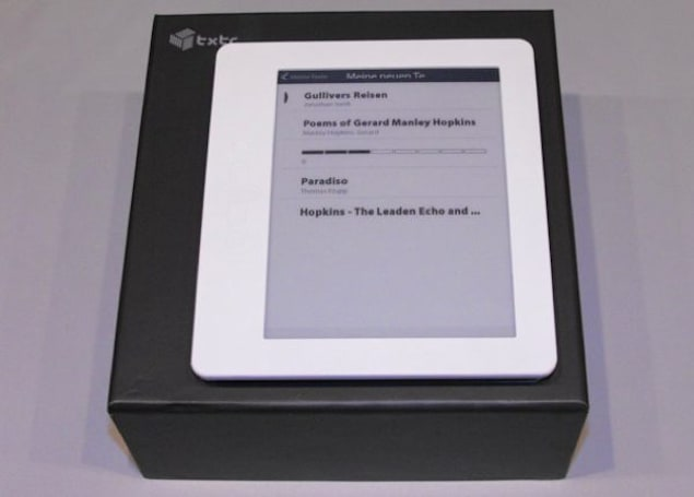 txtr's e-reader offers a 6-inch e-Ink display, plenty in the way of Teutonic content