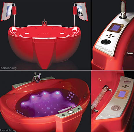 Water Games Technologies Red Diamond bath tub features HDTVs, cellular control