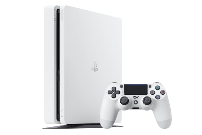 A white PS4 Slim is coming this month
