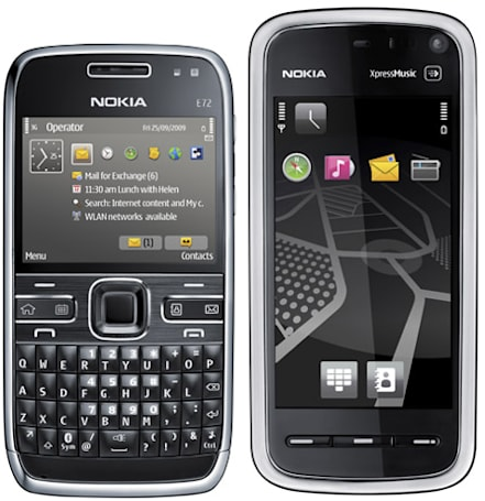 Nokia ships E72 and 5800 Navigation Edition to the US of A