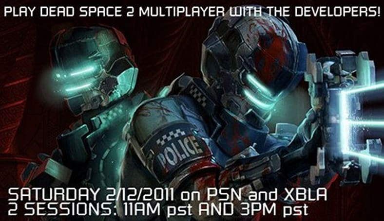 Play with Dead Space 2 devs this weekend, earn special in-game suit