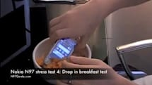 Video: Nokia N97 gets a torture testing, goes great with milk