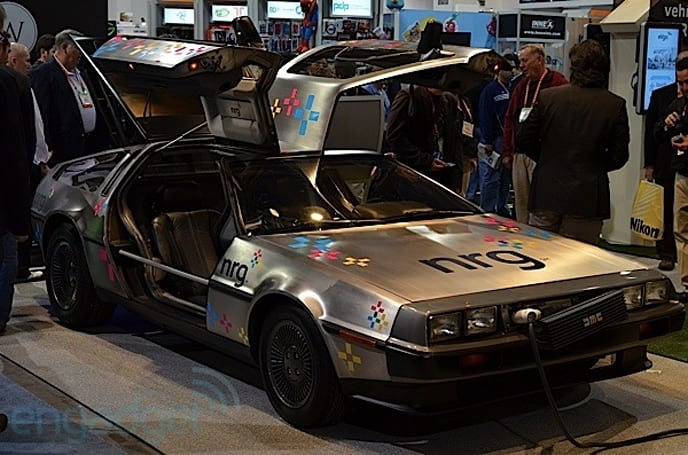 DeLorean DMC-12 EV eyes-on at CES (update: video of its show floor exit)