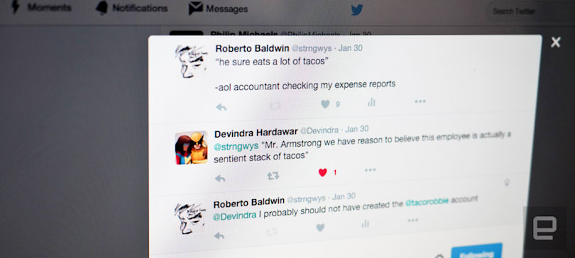 Twitter conversations now have their own pop-up window