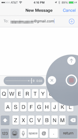 A new iOS 8 Messages app feature: Audio messages