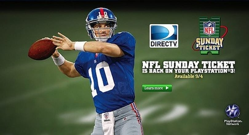 DirecTV NFL Sunday Ticket kicks off another season on PS3