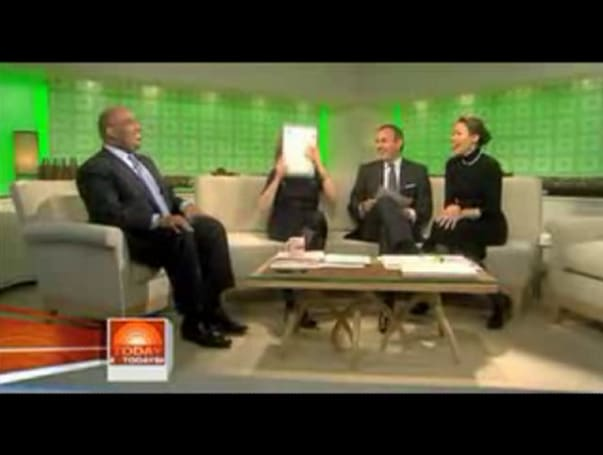 The Today Show's Meredith Viera licks the MacBook Air