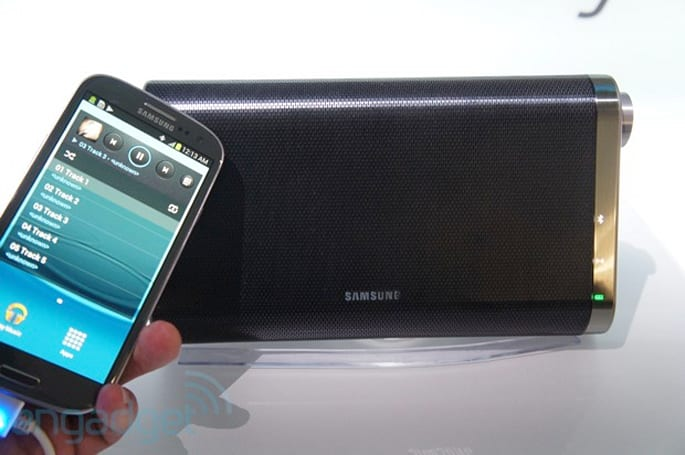 Samsung debuts NFC-Bluetooth DA F60 speaker set, even charges your phone (hands-on)