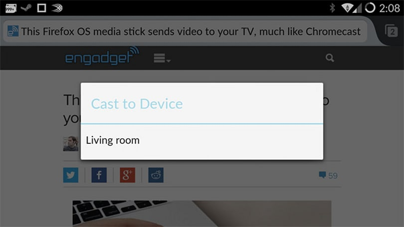 Firefox for Android could soon support Chromecast