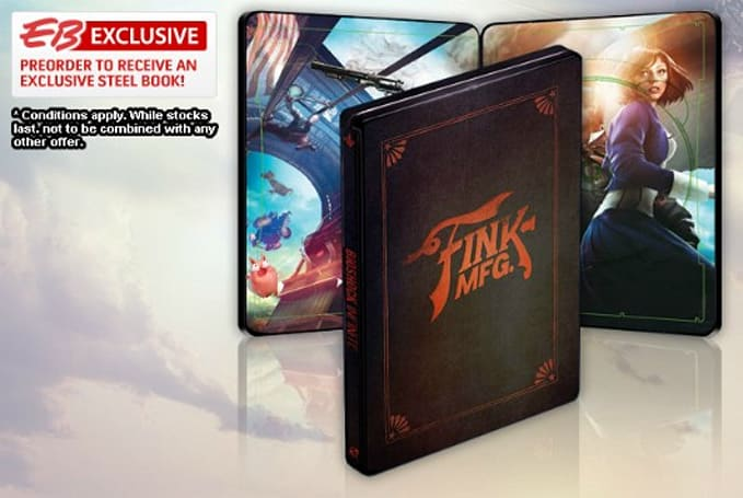 BioShock Infinite pre-orders in EU, AU, NZ can get Steelbook case