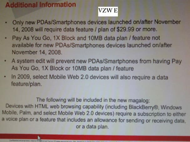 Verizon killing pay-as-you-go data plans, making other changes