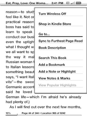 Kindle gets software update 3.1 with real page numbers, public notes
