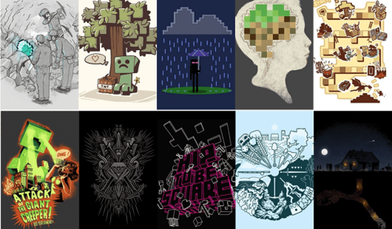 Minecraft collection on Threadless explodes with 10 new shirt designs
