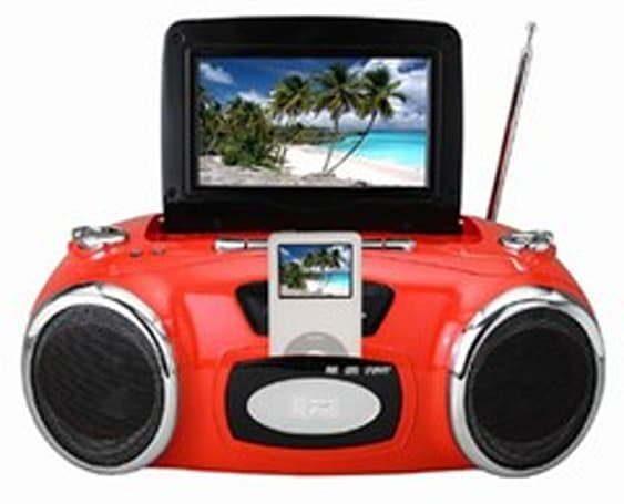 Boston Innovative's iMep boombox sports iPod dock and LCD