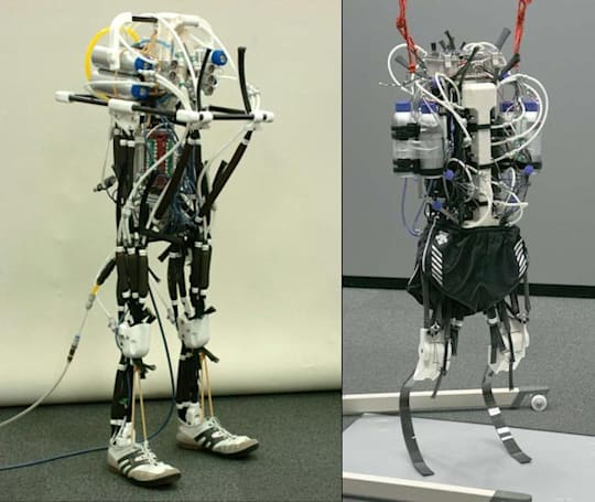 Athlete Robot runs just a few steps before falling down, does it with style