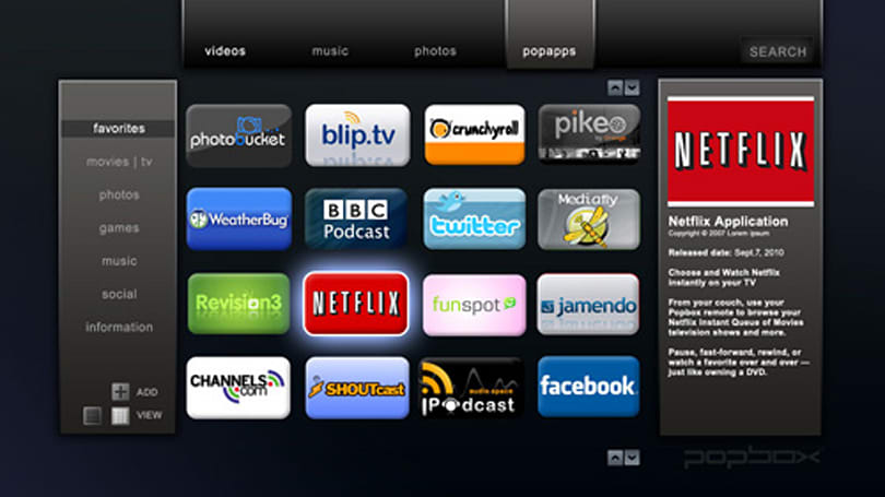 Popbox is Popcorn Hour evolved, with 1080p streaming and Netflix support