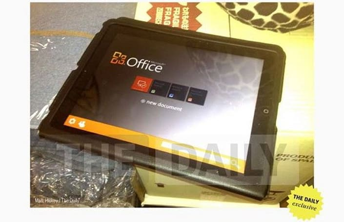 Microsoft Office for iOS gets blurrycam treatment in weird party-room