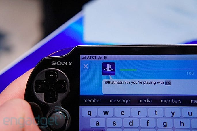 AT&T PlayStation Vita 3G hands-on, races PlayStation 3 on WipeOut  (video)
