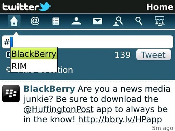 Twitter for BlackBerry 1.1 hits beta, adds new notifications and geotagging