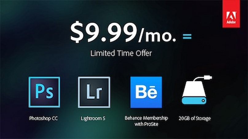 Adobe announces Photoshop CC and Lightroom plan for $9.99/month