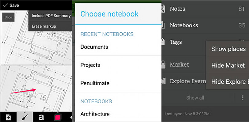 Evernote for Android nabs Skitch-inspired PDF annotation, customizable home screen
