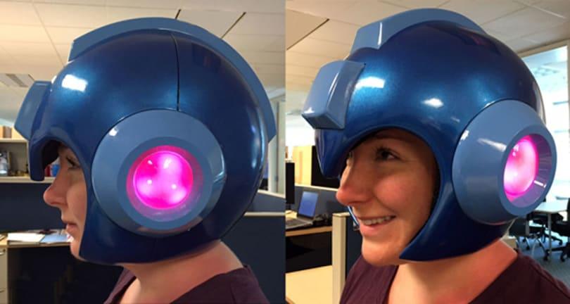 Capcom is making a light-up 'Mega Man' helmet