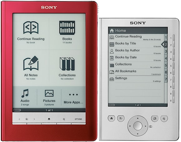 Sony Reader Pocket and Touch editions lower cost of entry, online e-book store follows suit