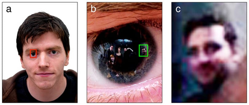 Research shows eye-reflections in photos could be used to identify criminals