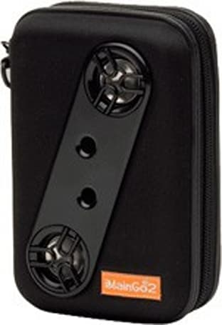 An iPhone and iPod case that includes speakers