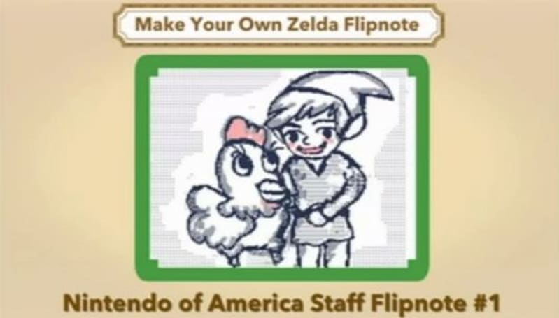 Zelda Flipnote animations, made by the Nintendo of America staff