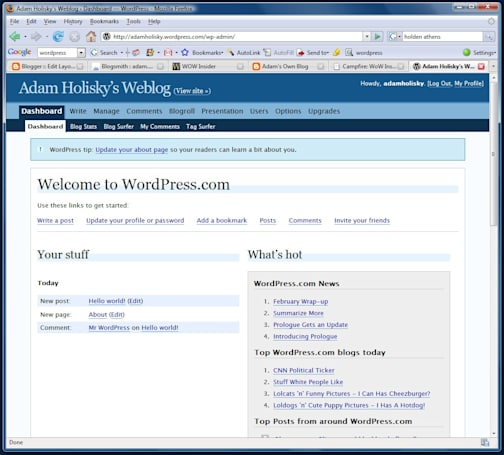 How to put WoW Insider on your WordPress blog