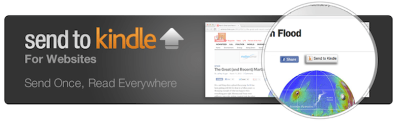 Send to Kindle buttons now available for web publishers and Wordpress bloggers