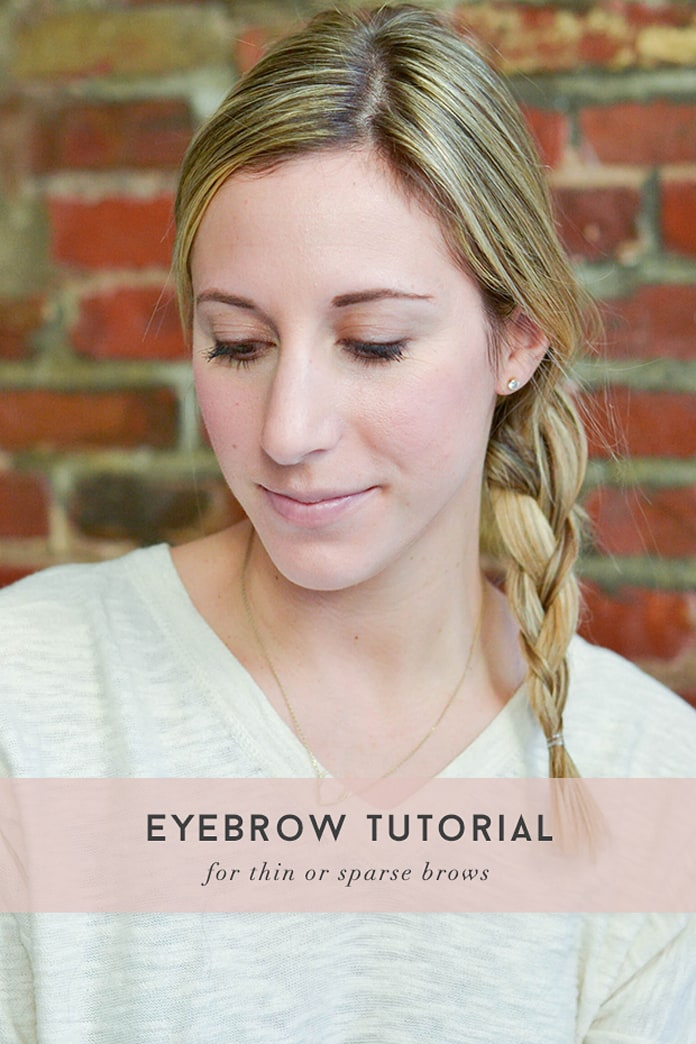 Eyebrow tutorial for thin or sparse brows