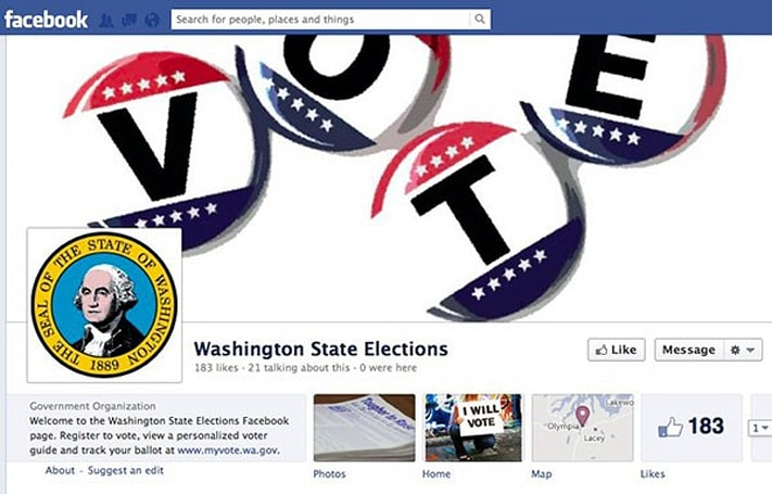 Washington to become first US state to enroll voters through Facebook