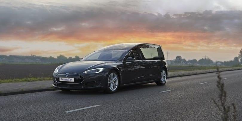 Dutch limo company builds a Tesla Model S hearse