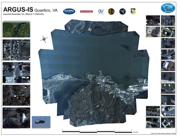DARPA's 1.8-gigapixel cam touts surveillance from 20,000 feet (video)
