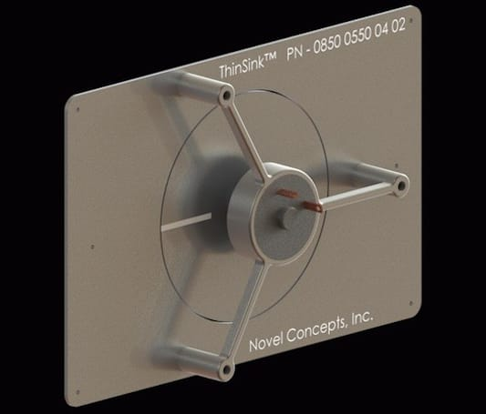 Novel Concepts' ThinSink claims title of world's thinnest air-cooled heat sink