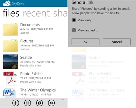 Microsoft launches SkyDrive app for Windows Phone and iPhone, forms No Androids Club