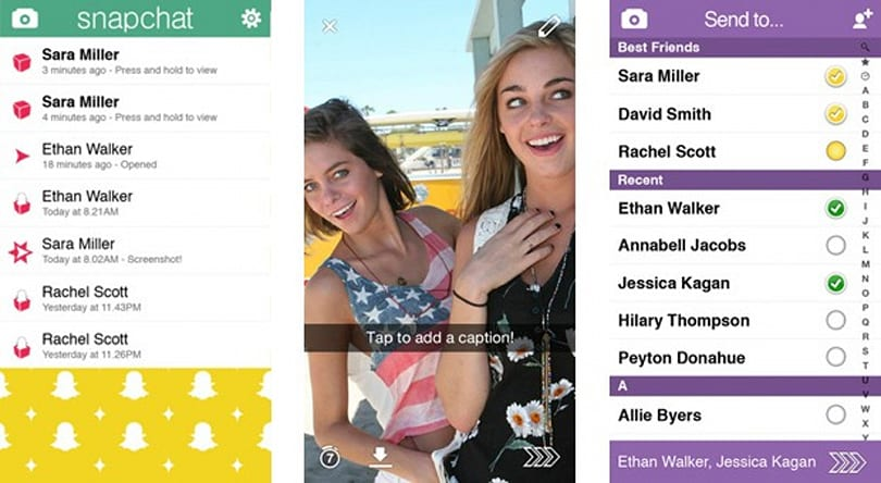 Snapchat 5.0 for iOS brings a swipe-based interface, in-app profiles