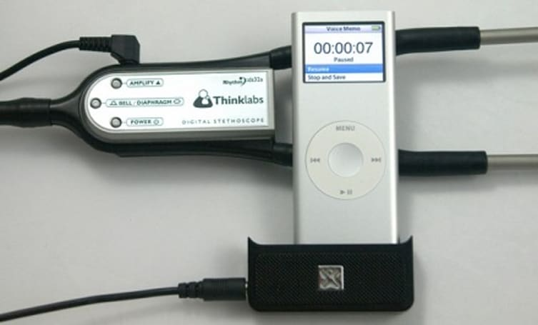 Thinklabs' iPod-based digital stethoscope