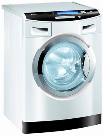 Haier's detergentless WasH20 washing machine