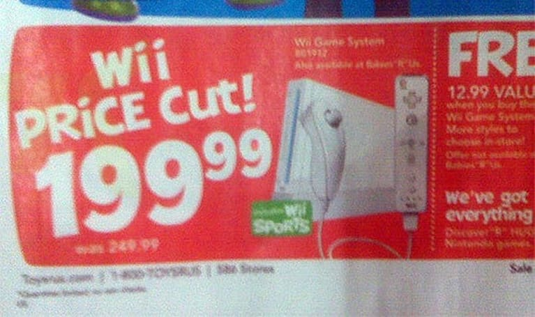 Wii getting $50 price drop this month? One Toys R Us ad seems to think so