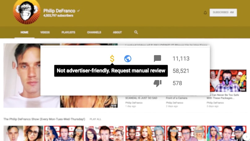 YouTubers call out ad guidelines as a form of censorship