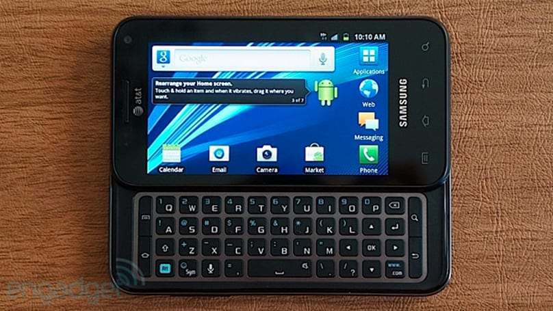 AT&T upgrades Samsung Captivate Glide to Android 4.0, keeps the QWERTY habit going