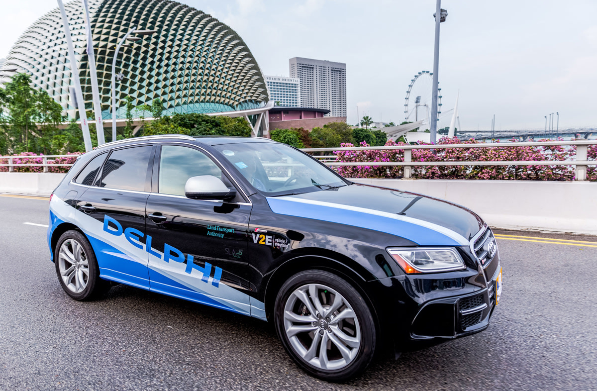 Delphi will test its self-driving taxi service in Singapore