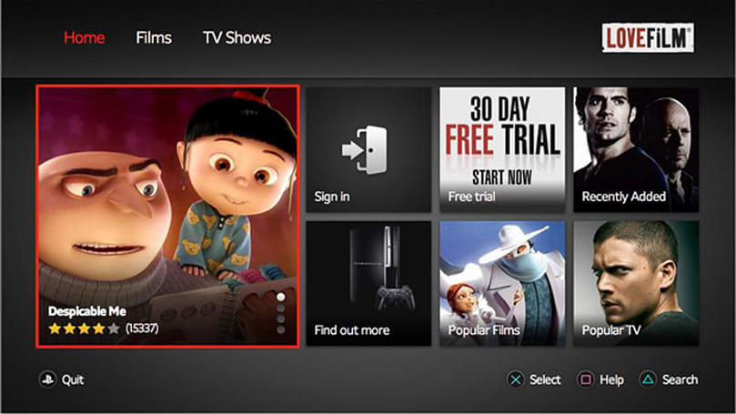 Amazon updates Lovefilm Instant with PS3 HD streaming, improved search